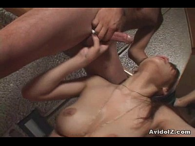 Japanese babe forced to suck cock uncensored