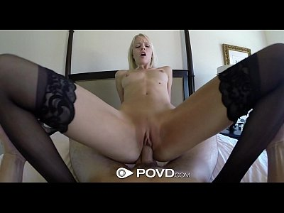 Pov Blonde Blowjob video: HD - POVD Lean Sierra Nevadah spreads her long legs for a big cock