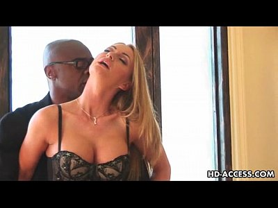 Porno video: Blonde takes anal plugging from black cock