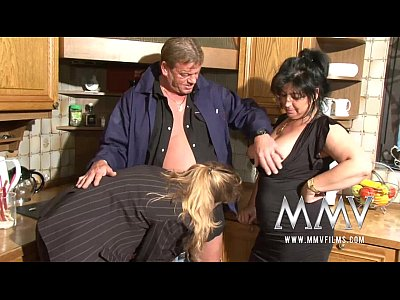 Hardcore Bbw Blowjob video: MMV Films Two mature wifes sharing a cock