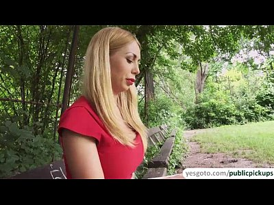 Public Blowjob Ass video: Russian blonde babe Isabella gets fucked in the park