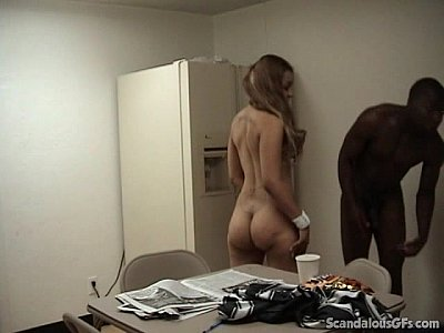 Voyeur Redhead Spycam vid: A Very Nasty Interracial Fucking Action In The Breakroom