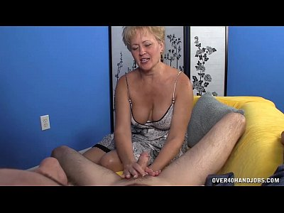Handjob Mature Jerking video: Mature Slut Jerks A Big Cock