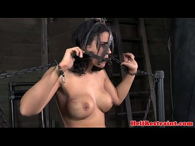 Fetish Domination Bondage video: BDSM fetish sub tied down flogged harsh