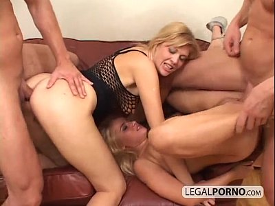 Blonde Doublepenetration Foursome video: 2 sexy blondes and 2 big cocks enjoying a foursome MG-1-02