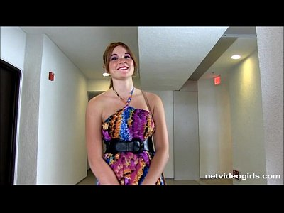 Backroom Bigtits Blowjob video: Freckle faced redhead amateur slow sucks