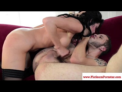 Blowjob Brunette Cocksucking video: Veronica Avluv gets a mouthful of cum