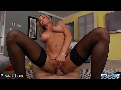 Stockings Lingerie Tits video: MILF Brandi Love gives BJ in POV