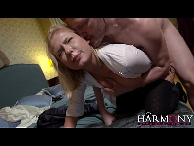 Hardcore Stockings Blonde video: HarmonyVision Perky girl loves hard anal sex and creampie