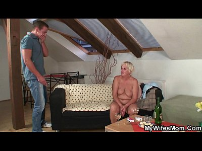 Motherinlaw Motherinlaw Mywifesmom video: Old mother inlaw lures her boy