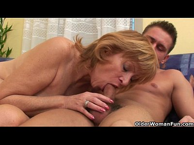 Hairy mature blowjob and fuck