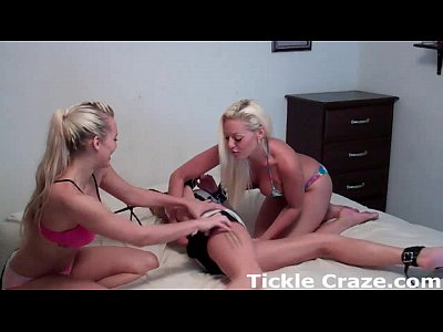 Bondage Chastityhumiliation Femdom video: Courtney and Macy tickling Bella for cheating