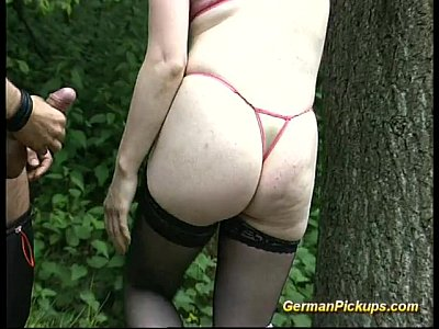German Amateur Public video: young german blonde pickup