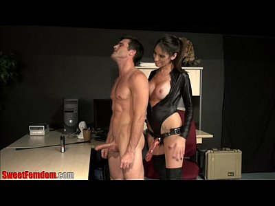 Domination Femdom Pegging video: Fucked Over The Desk by His Boss PREVIEW