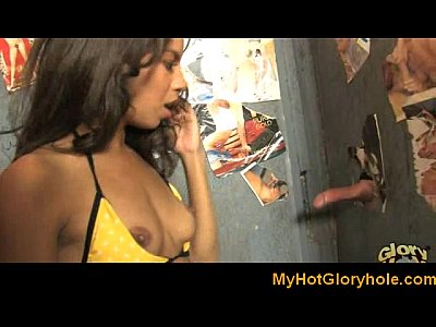 Interracial gloryhole - Amazing blowjob e ...