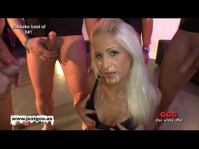 Bdsm blonde gangbanged and face cummed — photo 13