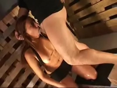 Girl deep throat BDSM