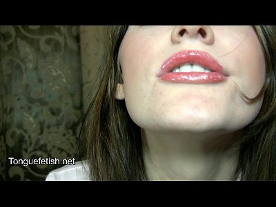 Fetish Mouth Saliva video: Her long, wet tongue and throat