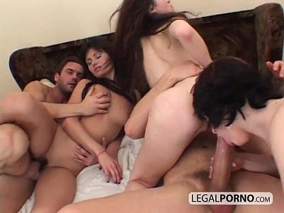 Gaping Rimming Asstomouth video: 3 girls take big cock in their asses and really love it TS-2-03