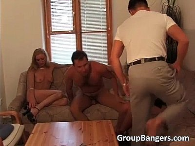 Porno video: Extreme gangbang sex with lots of cock