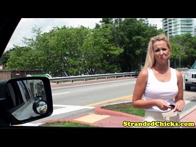 Bimbo Bj Blonde video: Real hitchhiker amateur buffs driver knob