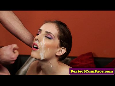 Facial Threesome Cumshot video: Tina Blade cumshower