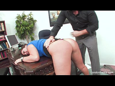 Hard Punished xxx: London Keyes Gets Bent Over and Office Fucked