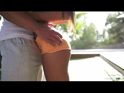 Brunette Cock Garden video: Morning sex