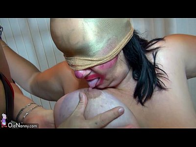 Bbw Bdsm Bigtits video: OldNanny Very chubby granny and Fat mature fucked with strapon, BDSM scene