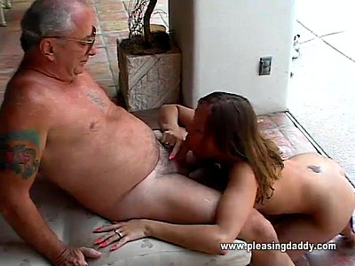 Blowjob Deepthroat Sucking video: Cutie Gets Throat Fucked By Old Man