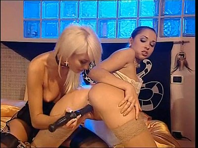 Beautiful hungarian lesbians get horny on sofa