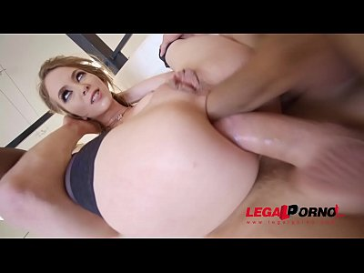 Exxxtra Goregeous Angel Smalls folded in half, choked and DP'ed!