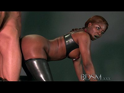 BDSM XXX Slave boy enjoys a good beating from his Dom before licking his cum