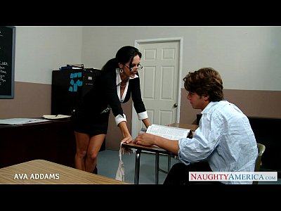 Blowjob Pornstar Glasses video: Teacher in glasses Ava Addams gets big tits fucked