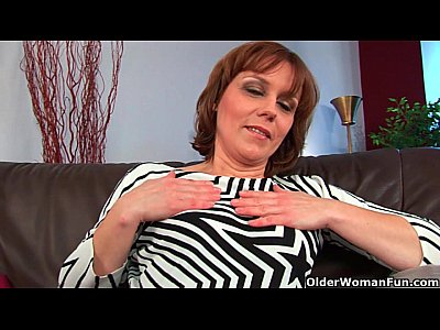 Masturbation Mature Mom video: Older woman Mylene finger fucks her full bushed pussy