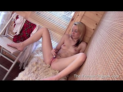 Teen Blonde porno: Time For Bating My Fanny After School