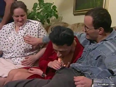 Gangbang Hairy Hardcore video: Granny orgy porn