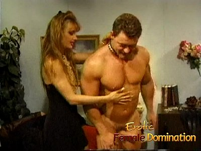 Dominatrix Group Handjob video: Kinky muscular stud has his dick tugged on by two sexy bimbos