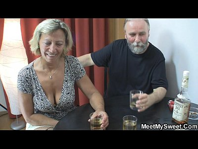Grandpa Granny Mature video: Perverted parents fuck his GF