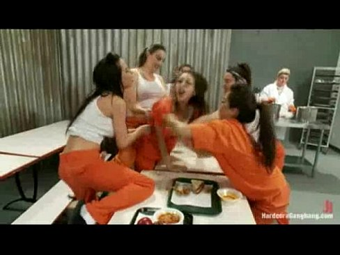 Jail girl gangbanged by nasty girl gang