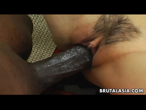 Smoking hot Asian bitch has a black cock to ride 8 min
