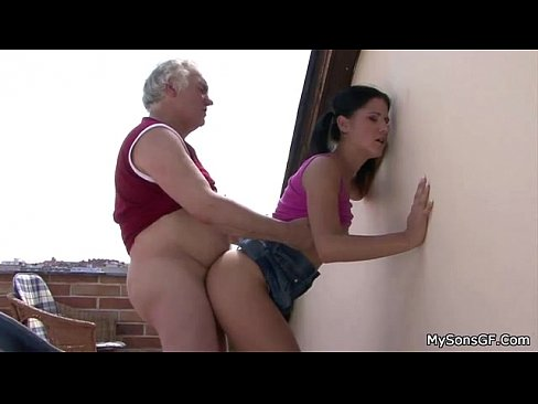 Bf's dad got lucky after abusing himself - YES....