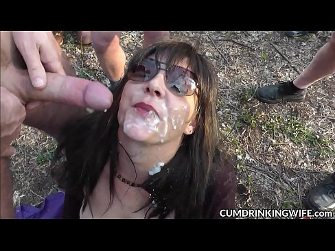 Hot wife cum drenched and creampied by hundreds of guys