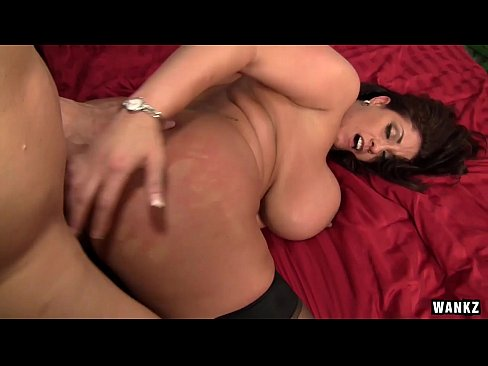 WANKZ - Super Hot Big Titty Slut Eva Notty Stroked On Bed