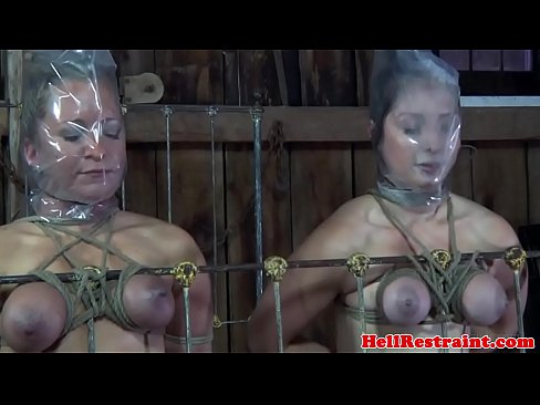 BDSM slave duo punished in maledoms dungeon