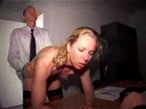Hard anal sex and a facial in a German office