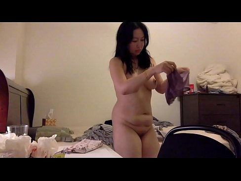 Chinese Milf Getting Dressed