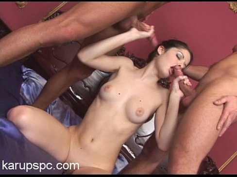 Czech babe Banana Brandy gets double penetrated on bed