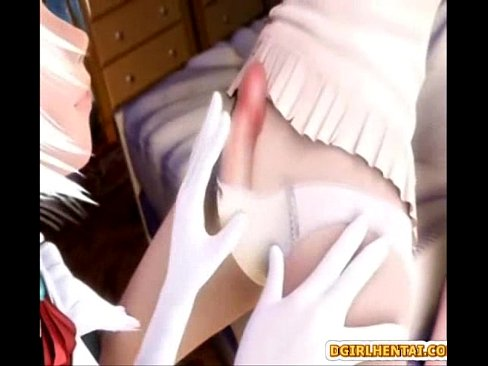 Cute hentai maid tittyfucking and hot riding bigcock