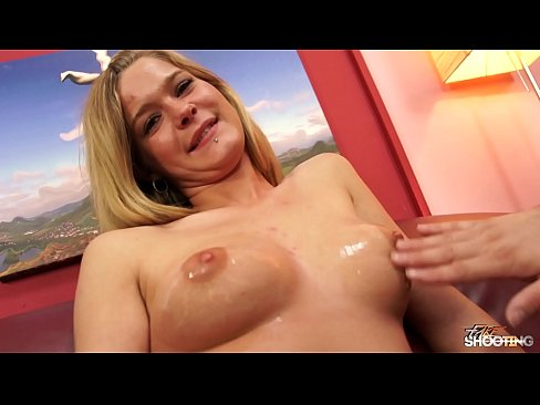 Great tits beauty ride big older cock on fake casting